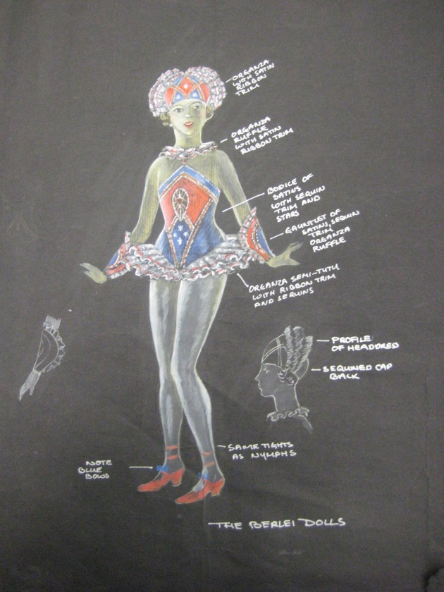 Design for the Berlei Dolls in the Berlei Beauty Ballet from the film Undercover. Palm Beach Pictures 1982. National Library of Australia