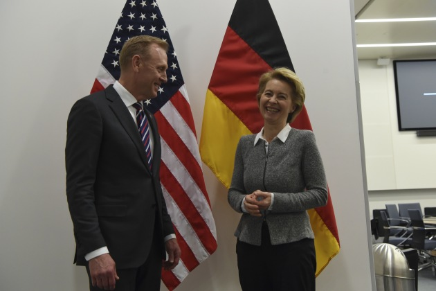 US Acting Defence Secretary Pat Shanahan is looking at his German counterpart Ursula von der Leyen to increase defence spending, but may be disappointed.