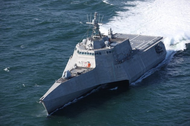 The USS Tulsa successfully completed acceptance trials in the Gulf of Mexico. Credit: Austal via Twitter