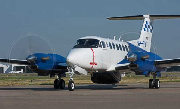 Victoria Police Air Wing's new King Air 350 ER. (Textron Aviation)