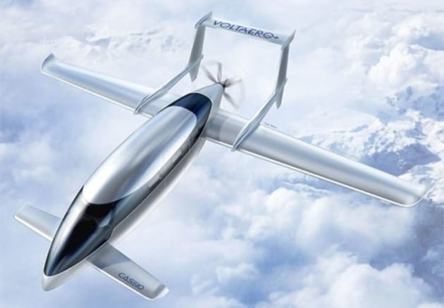 VoltAero has settled on a twin-boom pusher configuration for production Cassio aircraft. (VoltAero)