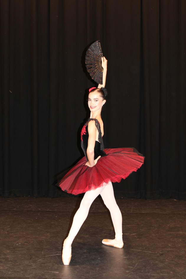 Chloe Reynolds (National College of Dance), pictured here when she won the AICD Houston Ballet Academy Scholarship for 2018.