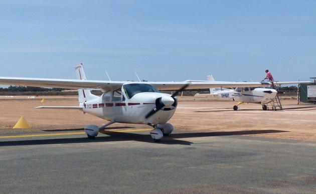 Wentworth in NSW was a beneficiary of Round 6 of the Remote Airstrips Upgrade Program. (Sonya Boadle)