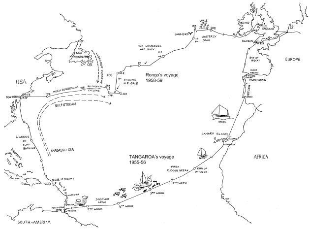 Map of the route taken by Rongo.