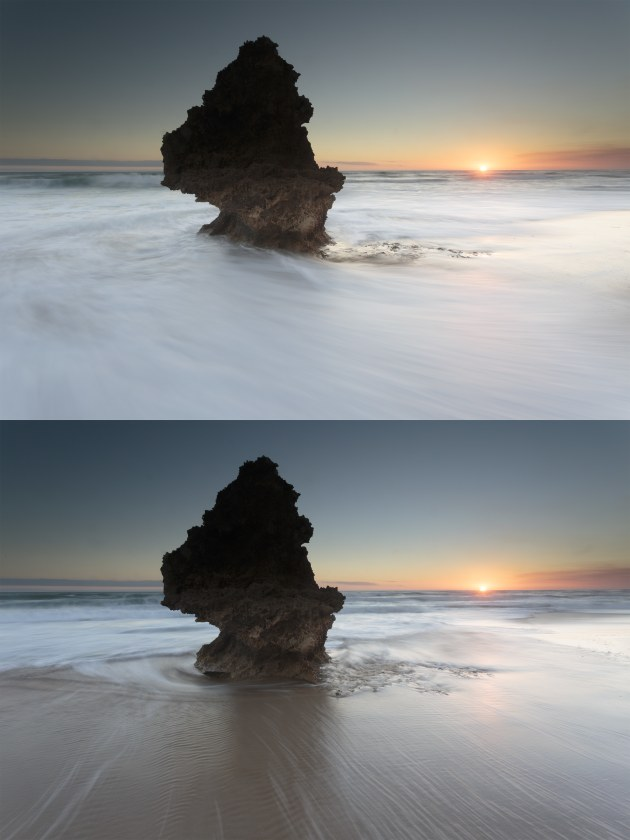 2015 - Curating is an important part of avoiding your bad photos. So out of these 2 images which one should I choose? The answer is neither. In the end I couldn't make up my mind and realised I was just trying to choose the least bad. None of the photos I took from this trip to the beach ended up going to processing. These things happen.