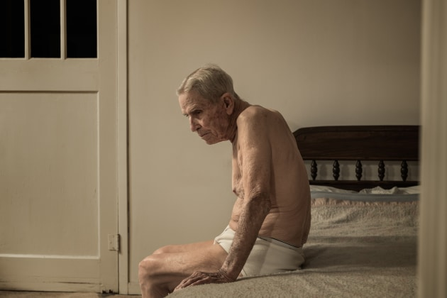 © Dan Winters. WWII Veteran Ray Halliburton at home in Luling, Texas, 2015, Smithsonian Magazine.