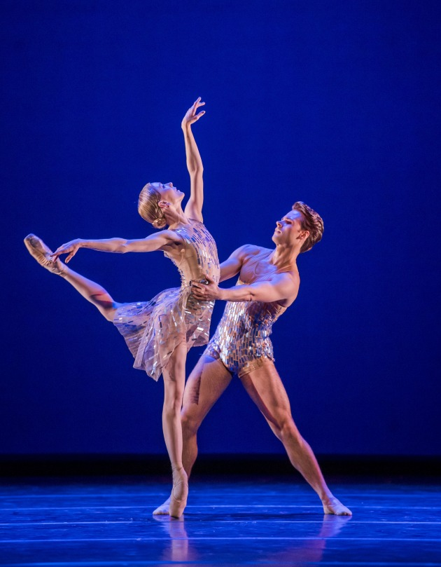 With RB principal Sarah Lamb in 'Within the Golden Hour'. Photo: Tristram Kenton.