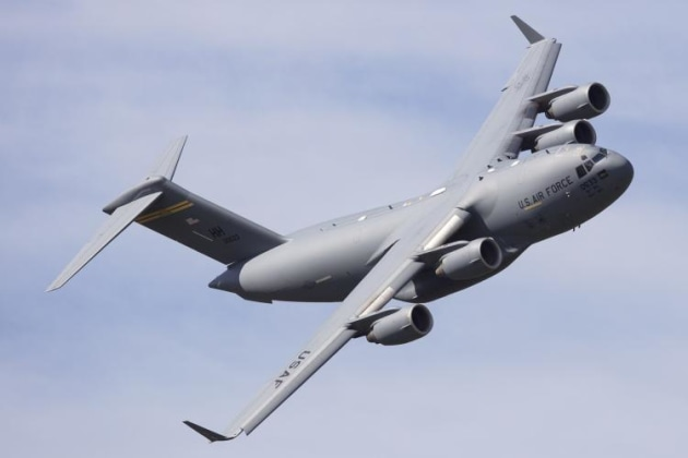 The US Air Force bought a C-17 Globemaster in very low. (Phil Hosking)