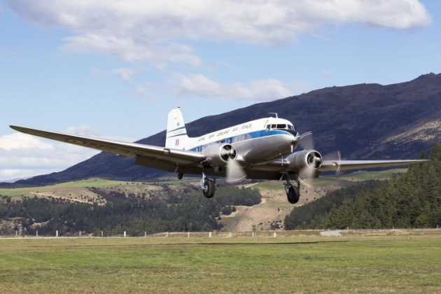 A DC3 about to touch down. (Phil Hosking)