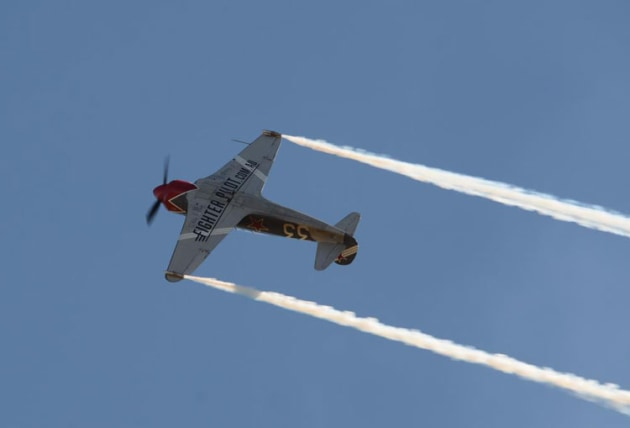 The Yak 3 Steadfast put on a solo display to the admiration of a very good crowd. (Steve Hitchen)