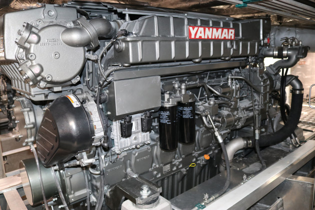 The two 749kW Yanmar marine engines are designed to minimise fuel consumption and optimise performance with precise, digitally-controlled fuel injection.