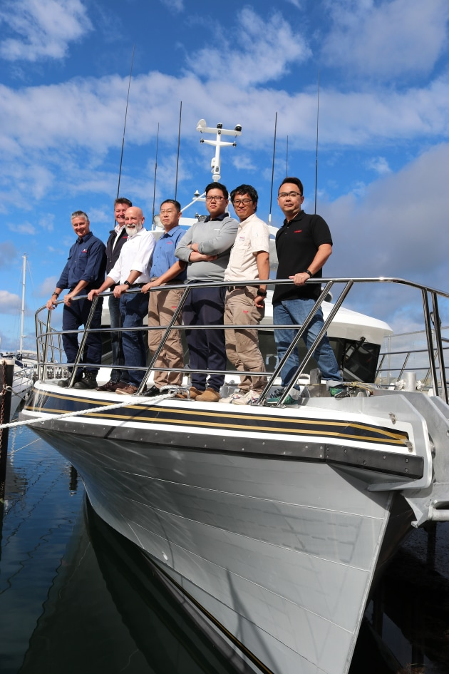 Yanmar engineers were eager to see the Ada Clara undergo her sea trials.