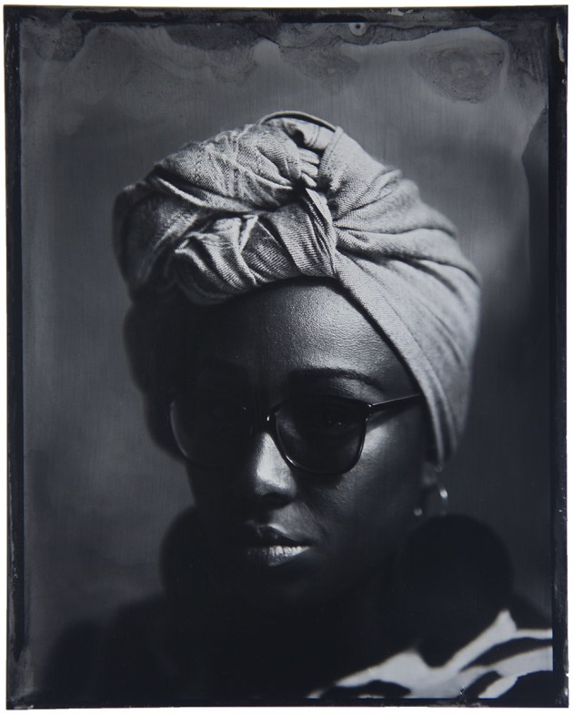 Yassmin Abdel-Magied, 2017 by Adrian Cook. Yassmin Abdel-Magied at the Sydney Writers' Festival, June 2017, captured using the wet-plate collodion process.