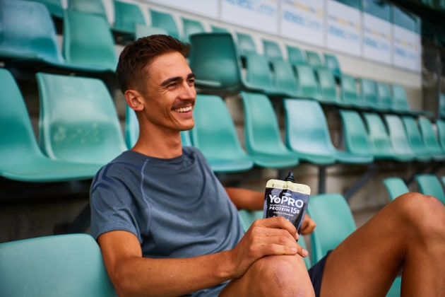 Commonwealth Games gold medallist high jumper Brandon Starc is one of the many Australian athletes part of the YoPRO Olympic campaign.