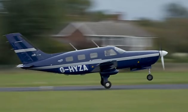 ZeroAvia has successfully flown a Piper M-series aircraft converted to run on hydrogen. (still from ZeroAvia video)