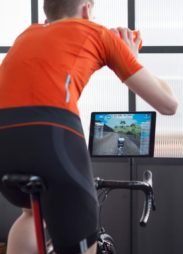 Just like riding a bike, only indoors! Image: Zwift