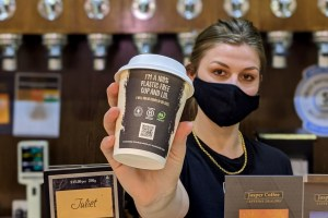 Plastic-free coffee cup hits the market