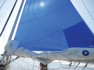 Moving through the lulls: get yourself a nylon mainsail