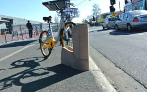 New traffic safety 'Lugton Bollard' bike rack