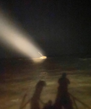 Coast Guard rescues four adults, four children and a dog from water in St. Mary's Inlet