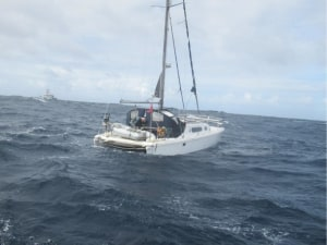 Coast Guard and LNG tanker rescue British yachty in the Caribbean Sea near Puerto Rico