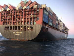 Boaters urged to take caution after APL England cargo ship container loss