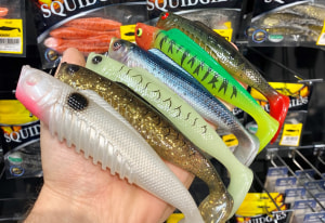 New Squidgies Fish and Wriggler sizes