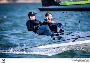 Burling and Tuke in total control as they record two bullets in the Rio Olympic 49er class