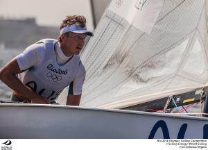 Jake Lilley up to third in the Finn at Rio Olympics