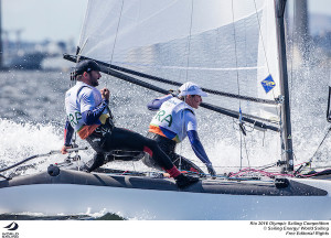 Waterhouse and Darmanin stay on top of the Nacra fleet at the Rio Olympics despite high scores