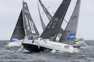 La Solitaire - Leboucher rocks off from Roscoff to lead testing light wind channel challenge for Stage 3