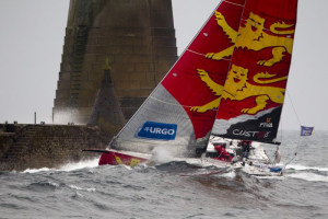 Normal service resumed on Stage 4 of La Solitaire URGO Le Figaro in the Channel