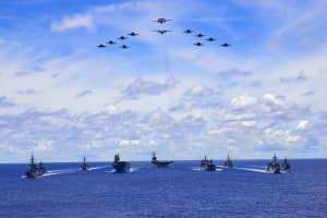 Trilateral exercises in the Philippine Sea