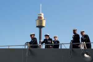 HMAS Warramunga returns home from record-setting deployment