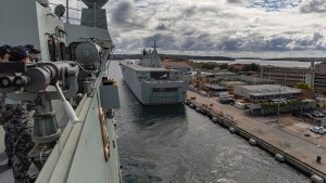 HMAS Adelaide heads to the Solomons