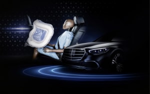 First rear passenger airbag in new Mercedes-Benz S-Class