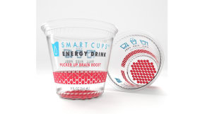 Just add water: The cup that becomes an energy drink