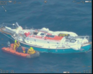 Second solo sailor rescued successfully by French fisheries patrol vessel