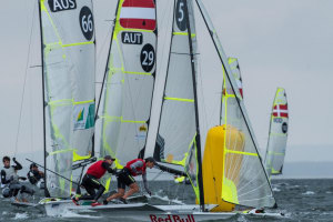 Dismal day disappoints at Nacra/49er Europeans but champions push forward
