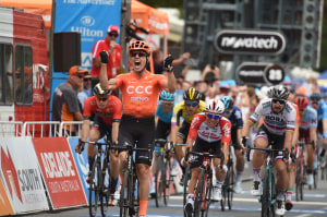 TDU Stage 2: Paddy Bevin Wins Stage And Goes Into Ochre For CCC Team