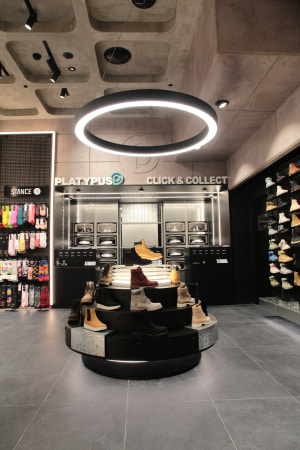 This 600sqm sneaker store will be directly next to its rival