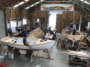 Americans go West to build a boat in Hobart