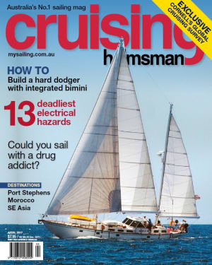 This issue is big! Two lead articles in the April Cruising Helmsman