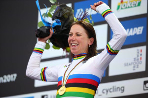 Rainbow Jersey For Annemiek Van Vleuten After Time Trial Win