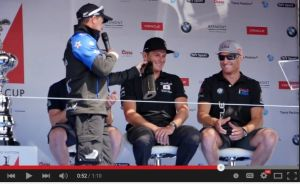 Aussies taking the mickey - Glenn Ashby gets a laugh at Jimmy Spithill's expense