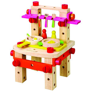 Classic play Kitchen Set and Work Bench with Tools