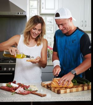 Golden tennis couple become deli meat ambassadors