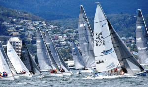 Close racing in Hobart's SB20 mid-winters