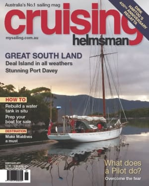 With a cover like this, you know February Cruising Helmsman is going to be good
