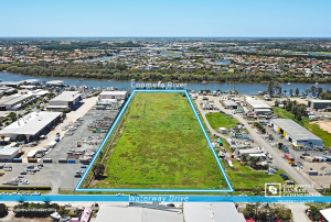 Riverfront site for sale at Coomera